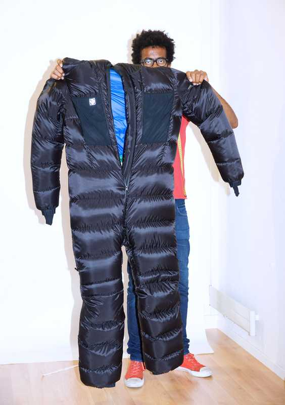 Full bodysuit for climbing Mount Everest