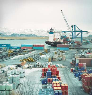 The city's container port