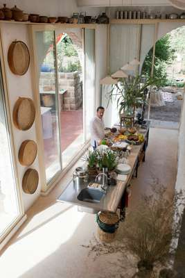 Kamal Mouzawak in the kitchen of Beit Douma