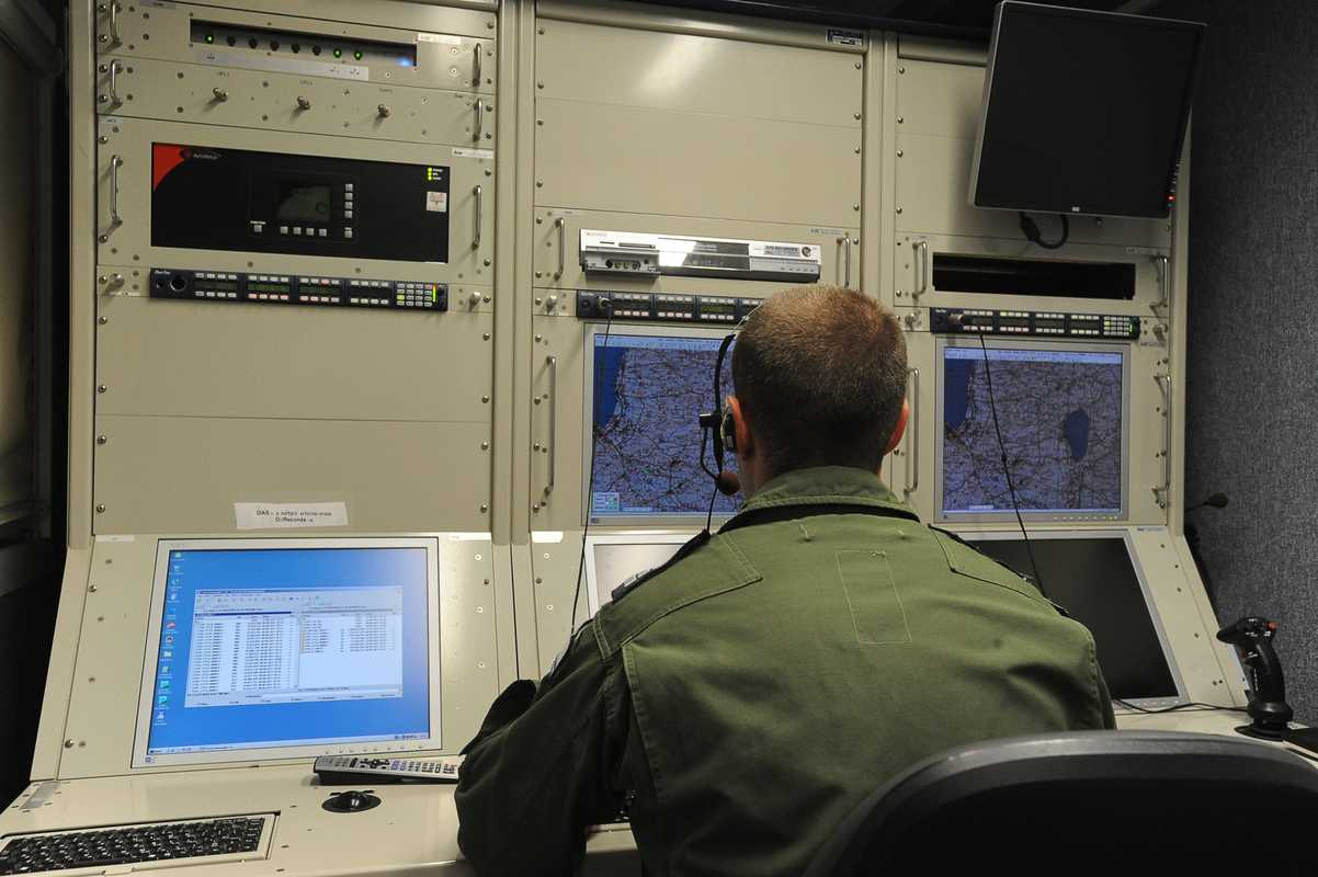 Captain Omer in the UAV control room