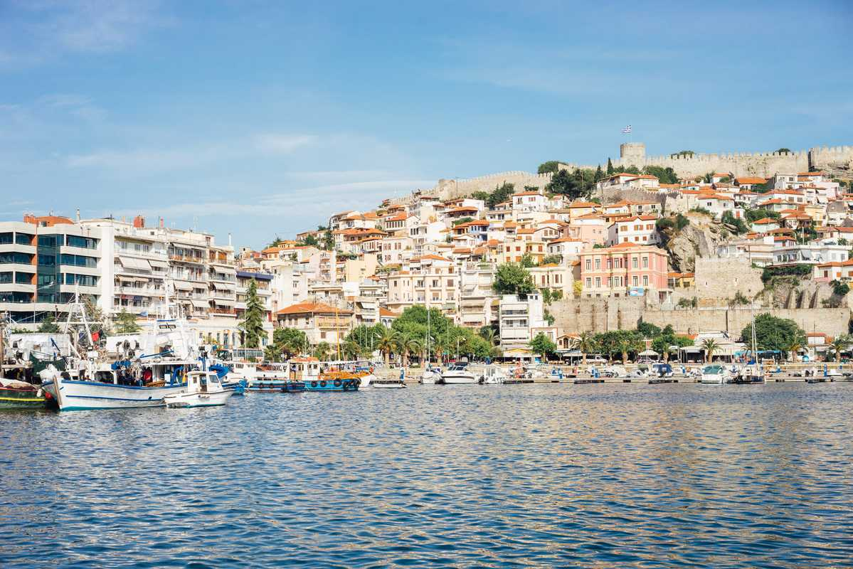 View to Kavala's old town