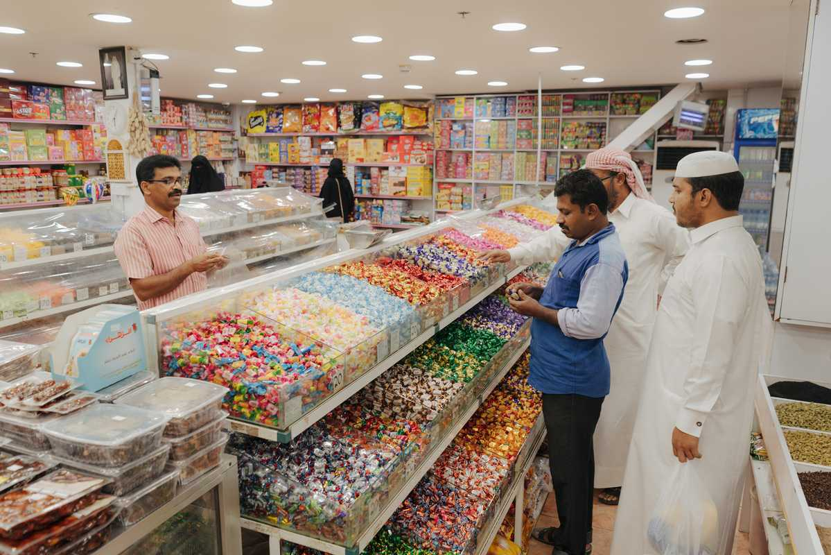 Sweet shop in a Doha souk