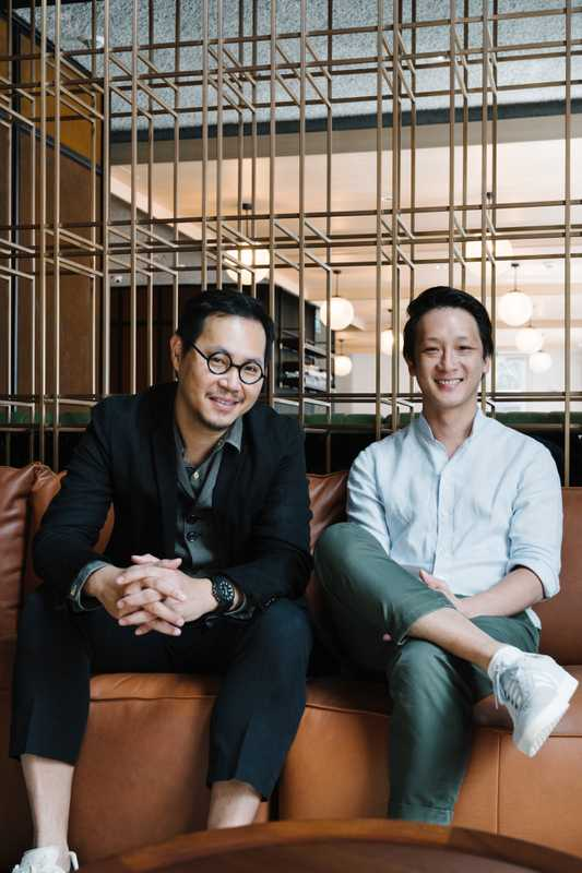 Asylum founder Chris Lee (left) with Wee Teng Wen