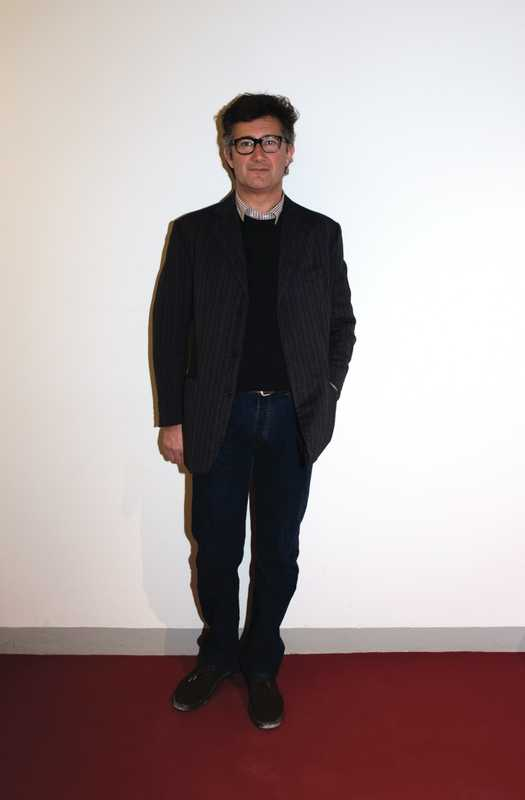 Name: Massimo Piombo, designer, Piombo Wearing: jacket, sweater and shirt by Piombo, jeans by Levi's, shoes by Clarks