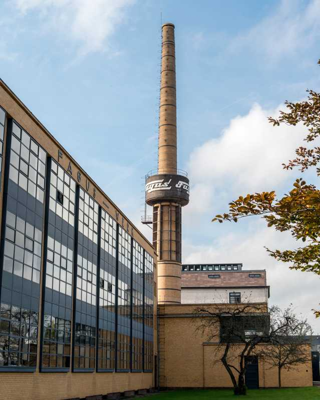 The factory was built by Bauhaus founder Walter Gropius in 1911