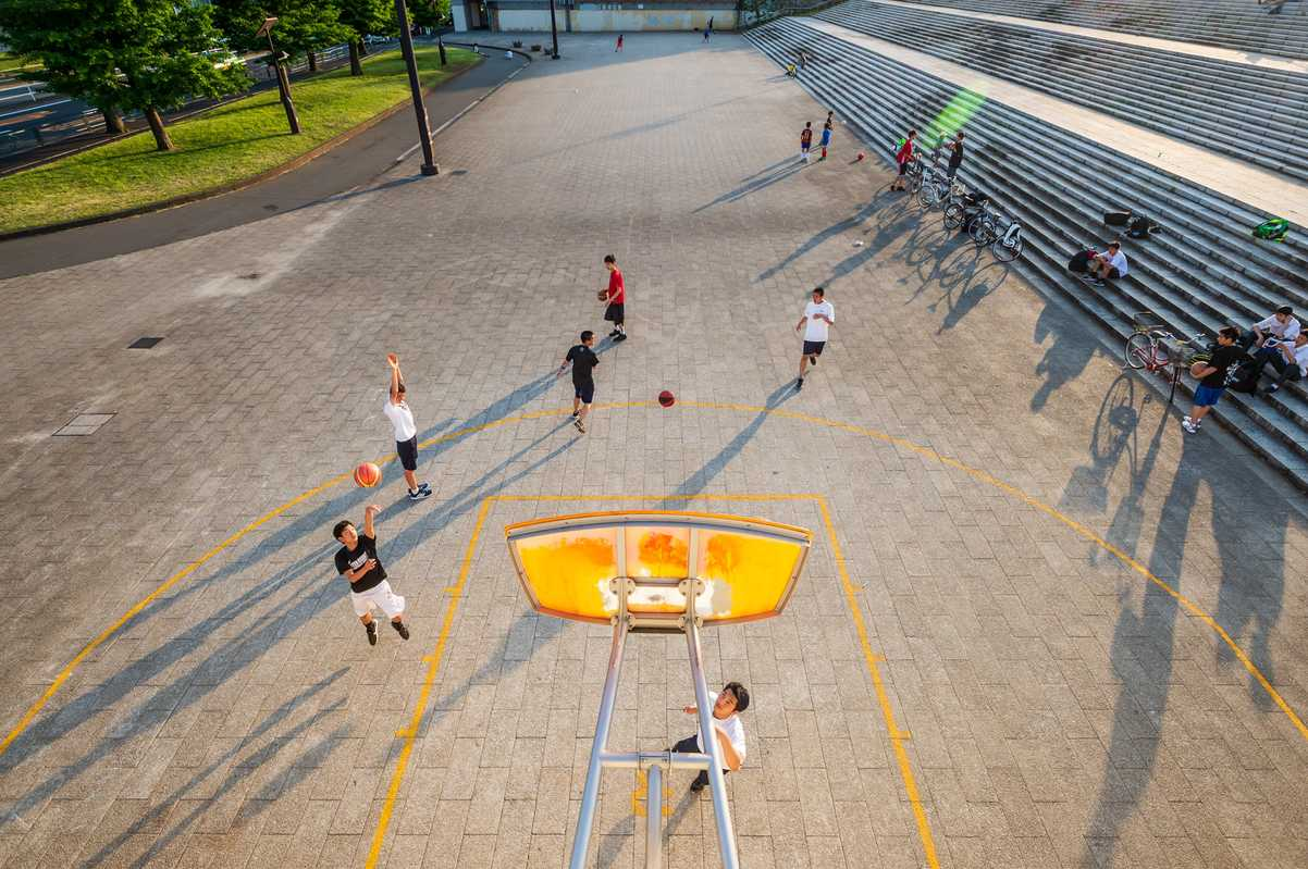 Basketball in Komazawa Park