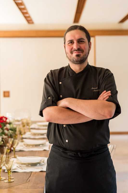 Head chef Manuel Montalbetti