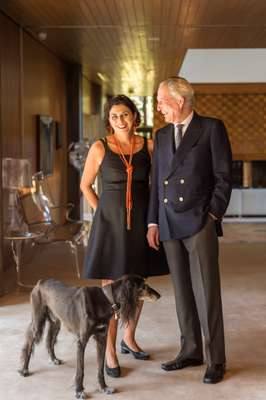 Ambassador Domenico Giorgi, Rita Mannella and their dog Shaab