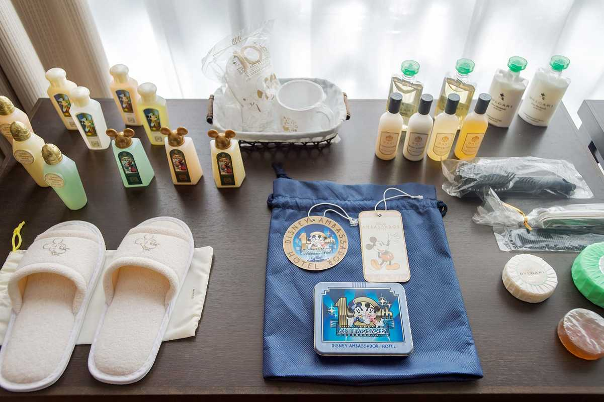 Toiletries set up for training
