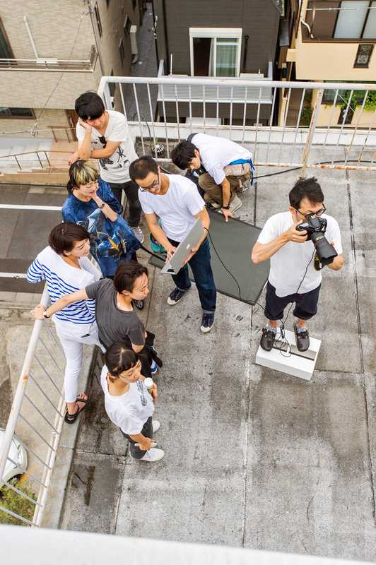 Shooting on location for 'Ginza'