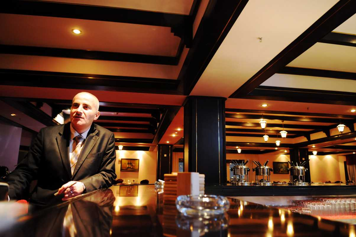 Saed Nijem, assistant food and beverage manager at the International Hotel