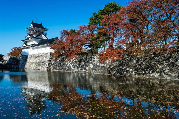 Toyama Castle sits in a park in the centre of the city