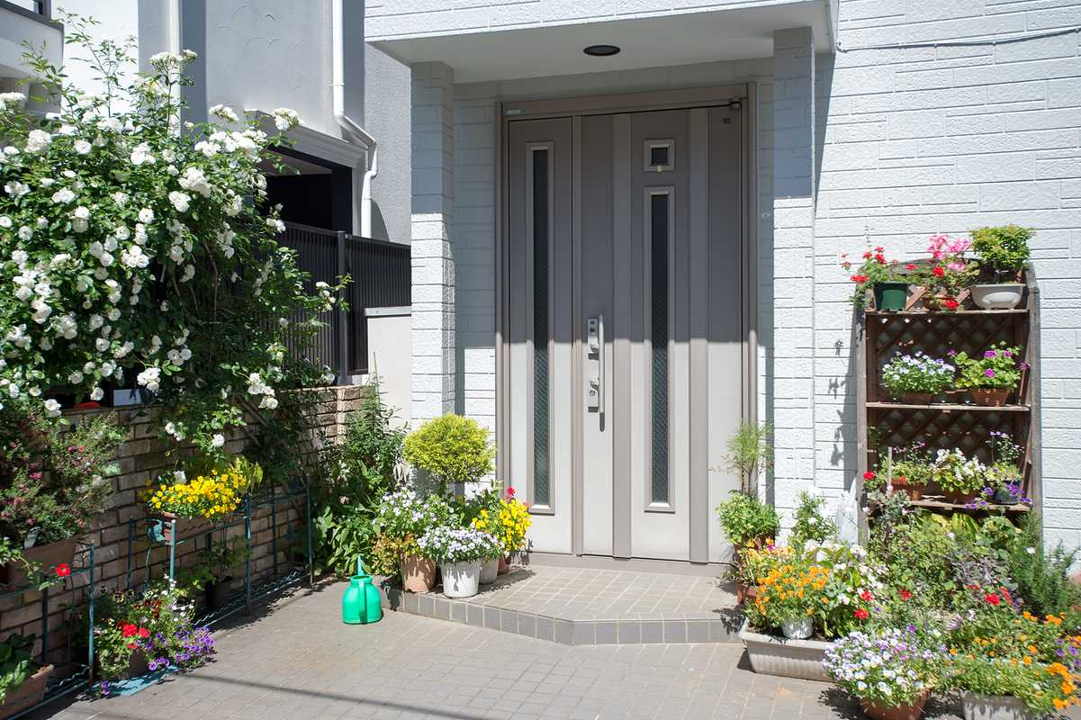 Potted plants outside a Tokyo home