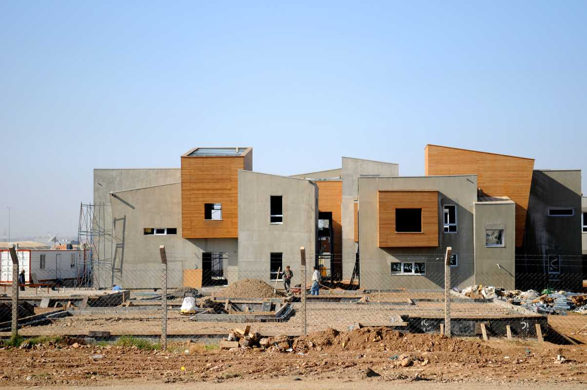 New housing being built near the English Village