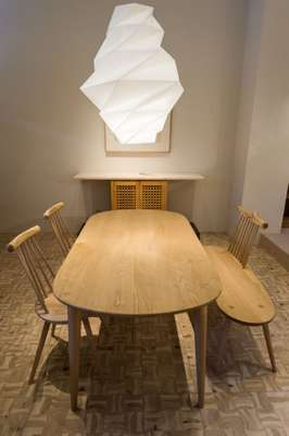 Kinoe dining set by Ibuki Kaiyama for Hida Sangyo