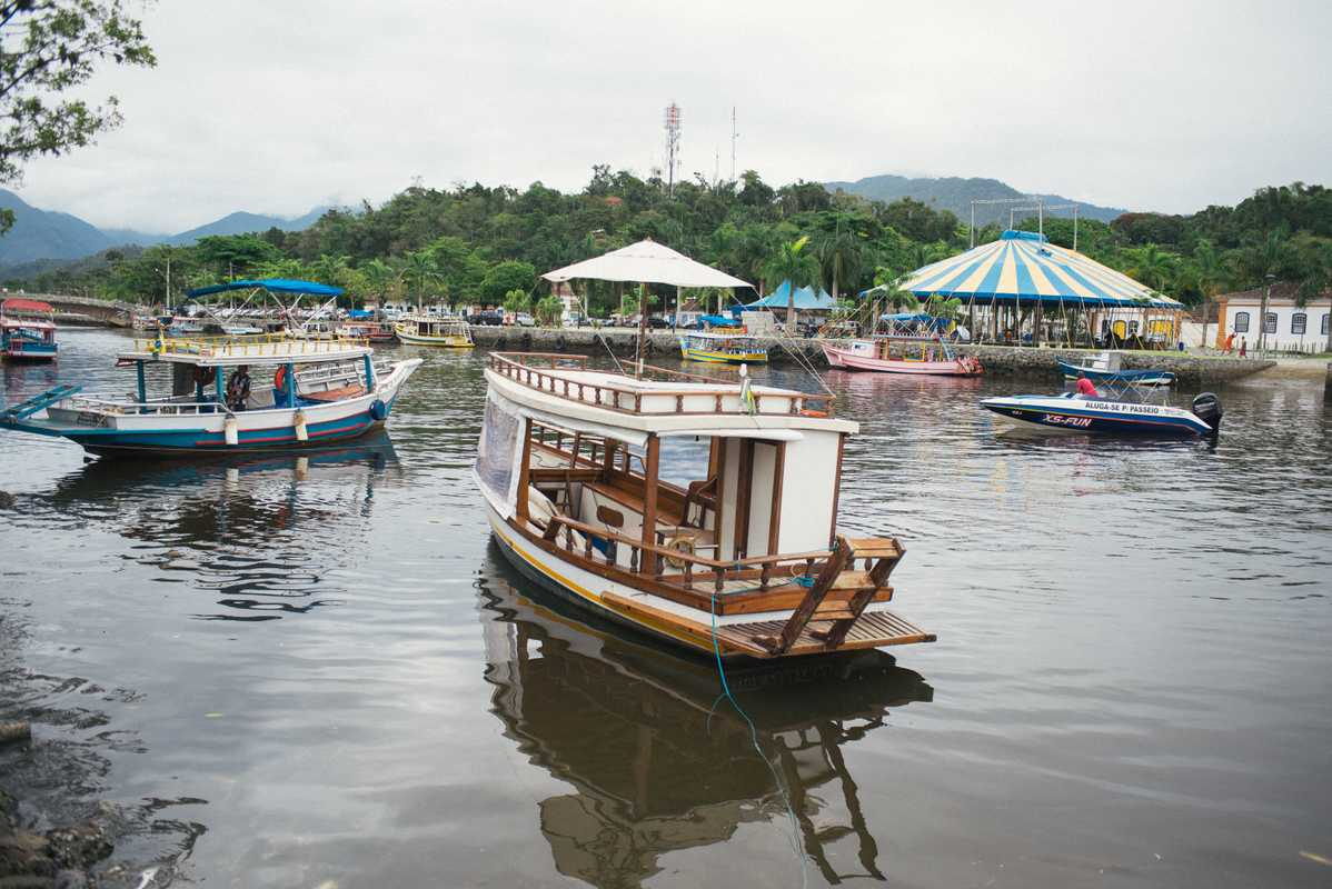 Boats in Paraty during food festival