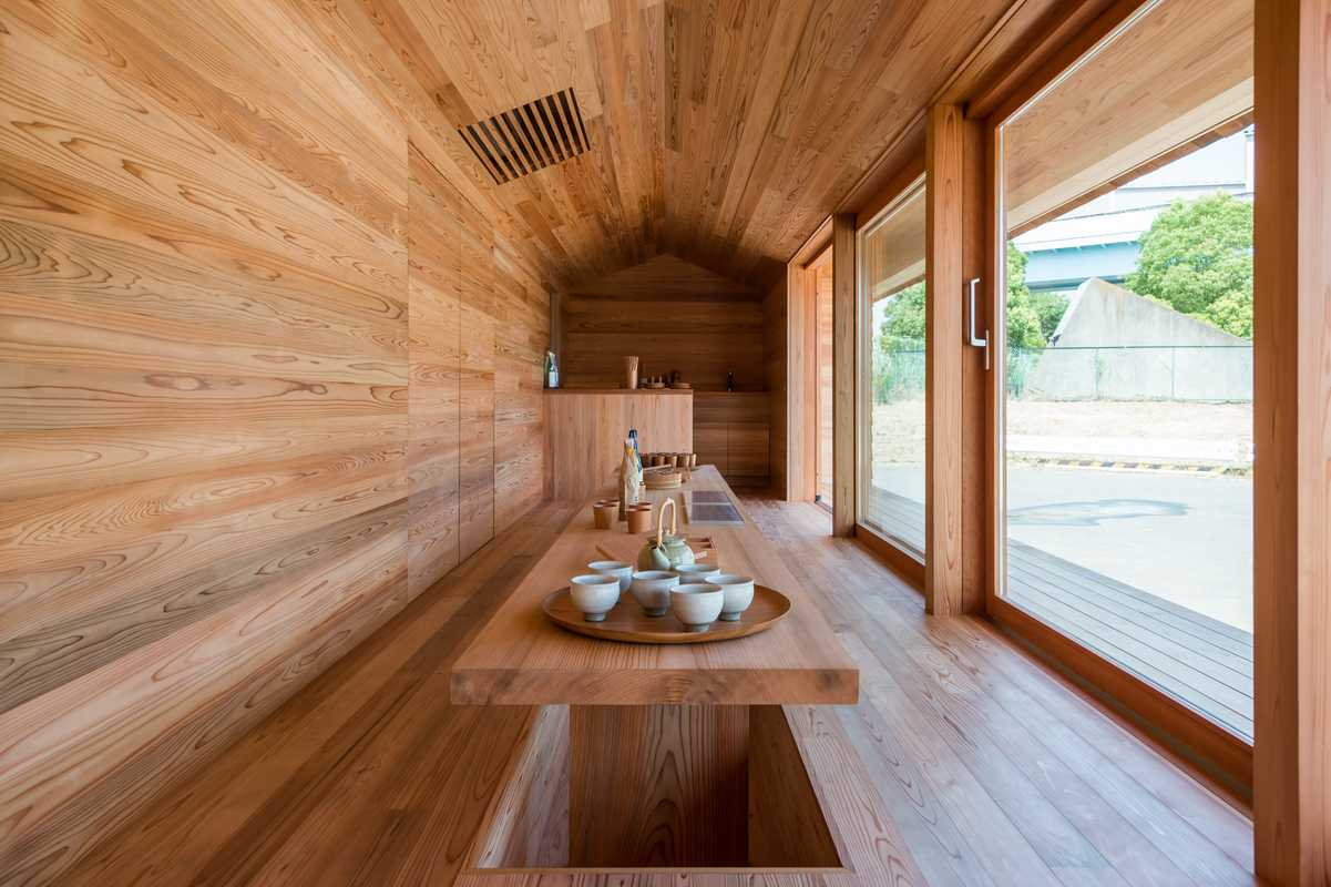 Yoshino-sugi Cedar House: The house will be moved to Yoshino  in October