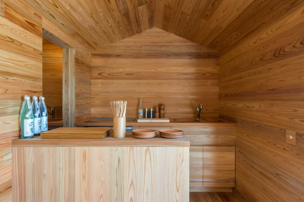 Yoshino-sugi Cedar House: Ground-floor community space
