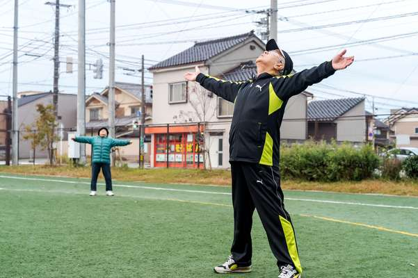 Morning exercise is a part of everyday life in Japan