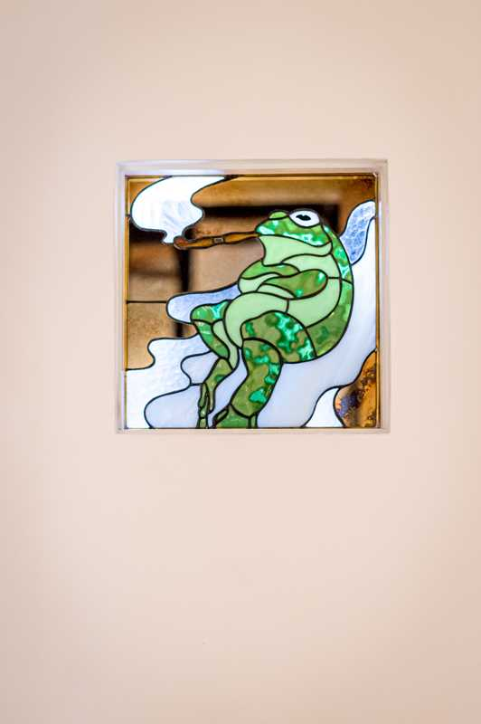 Stained-glass frog