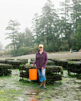 Toni Knudson, co-owner and manager of Buck Bay Shellfish