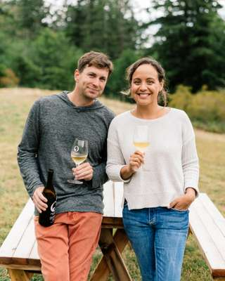 Wes and Tera Landman, co-owners of Orcas Island Winery