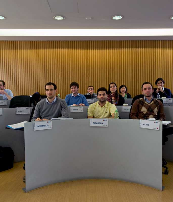 MBA students in class