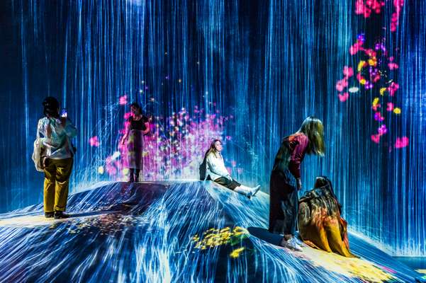 'Universe of Water Particles on a Rock Where People Gather' , TeamLab Borderless