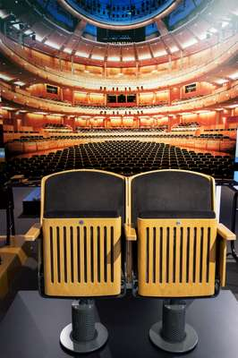 Wooden theatre seats are a company speciality