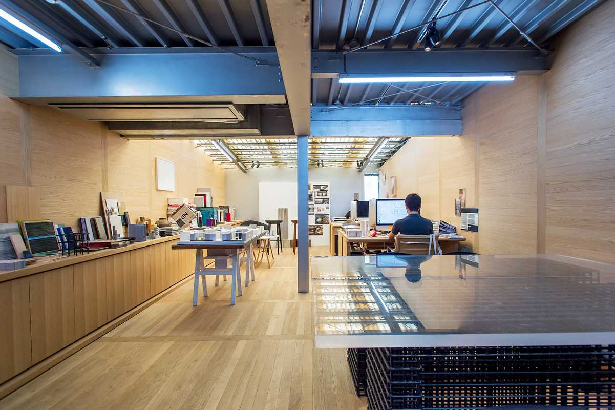 Daikei Mills' offices make bold use of native white oak