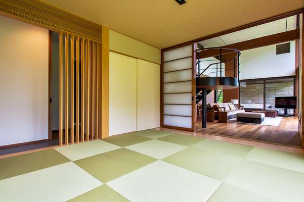 Tatami rooms open to the living room