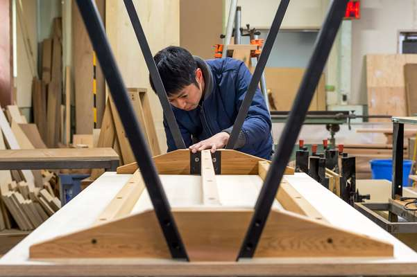 Every piece is branded by hand with the name 'Ishinomaki Kobo'