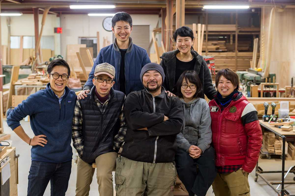 Workshop team with Takahiro Chiba (centre)
