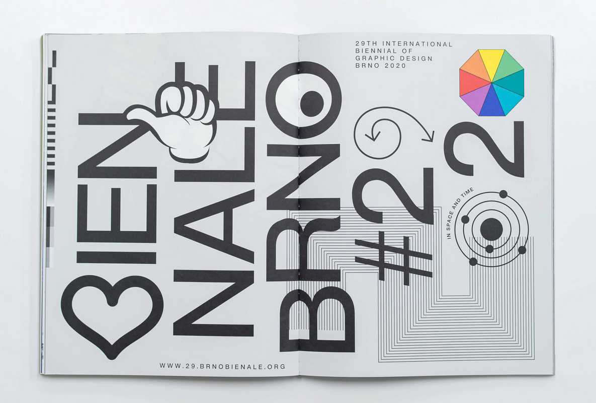 Poster option for proposed 2020 International Biennial of Graphic Design Brno