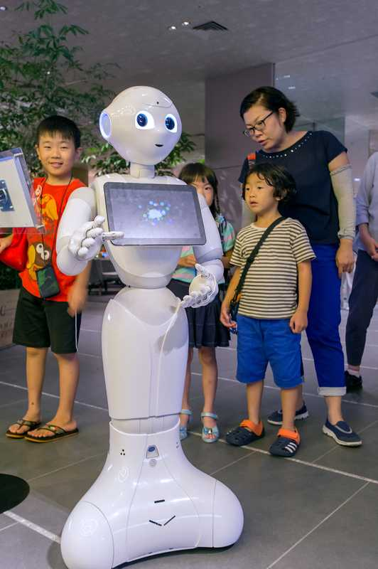 Pepper the robot is on hand to help – and keep the kids entertained