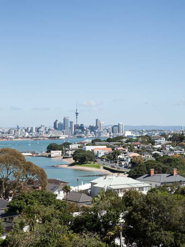 Downtown Auckland in the distance