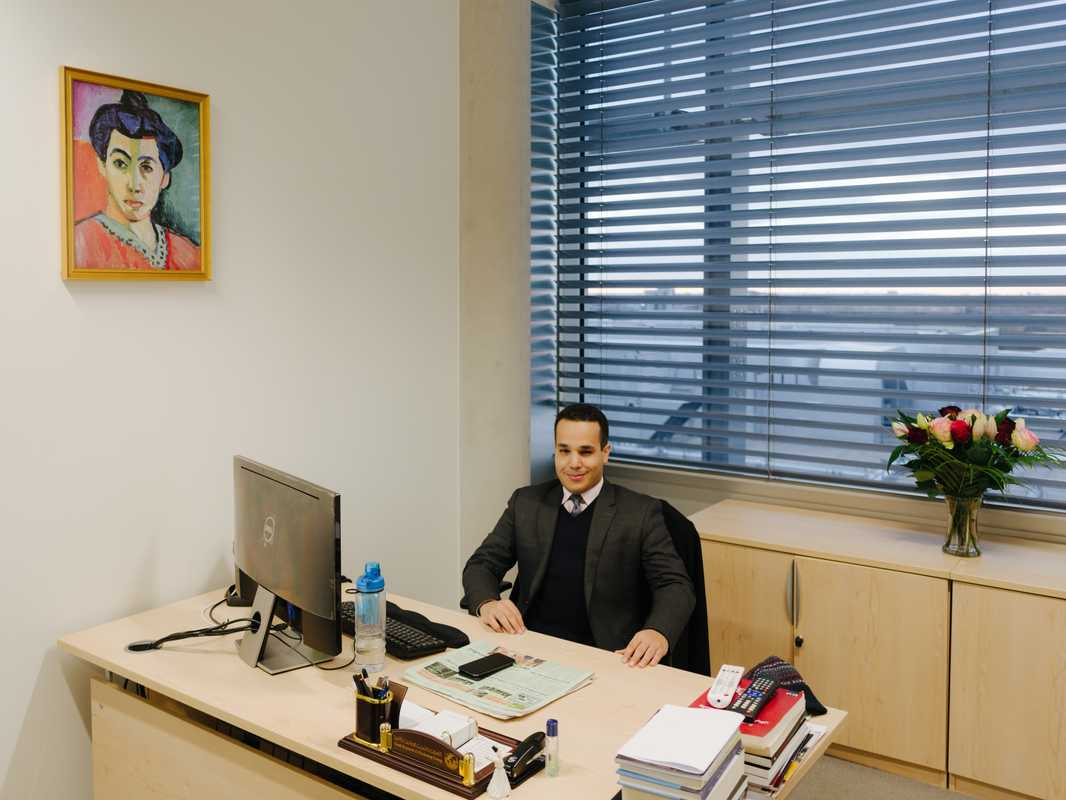 Head of digital media Adhwan Alahmari in his office