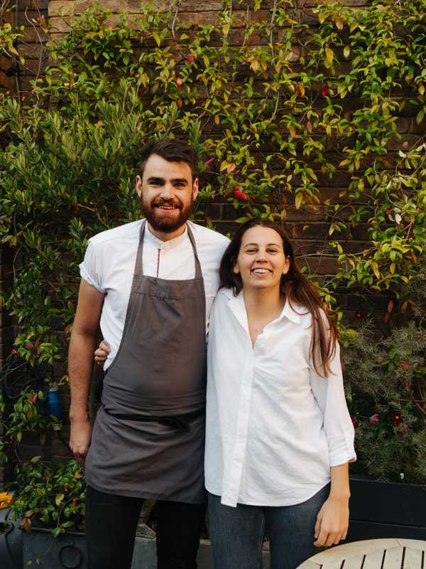 Chef Mark Tuttiett with host Gigi Isola