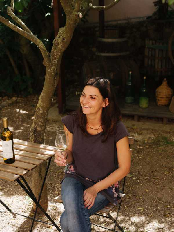 Winemaker Kiki Siamese of Melissinos