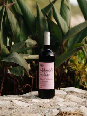 Bottle of Mademoiselle Haritatou from the Haritatos winery