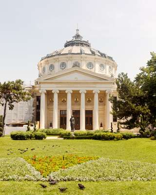 Neoclassic façade of the Athenaeum