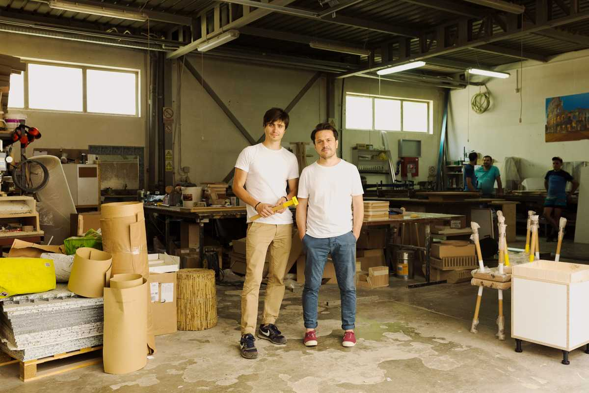 Dragos Motica (left) and Robers Savu:  the duo behind design brand Ubikubi