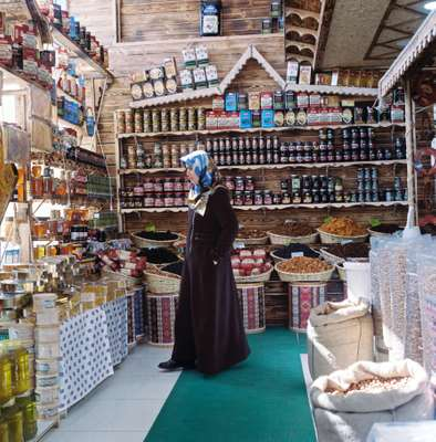 Mirvan shop catering to Iranian visitors