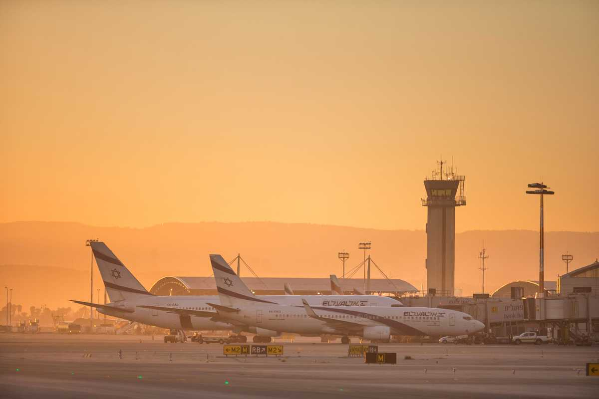 Sunrise at Ben Gurion