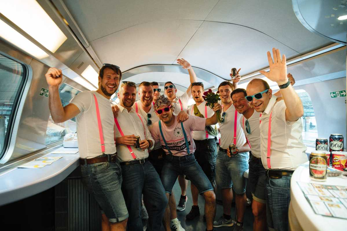 Paris to Frankfurt: German stag party bringing a touch of class to the trip
