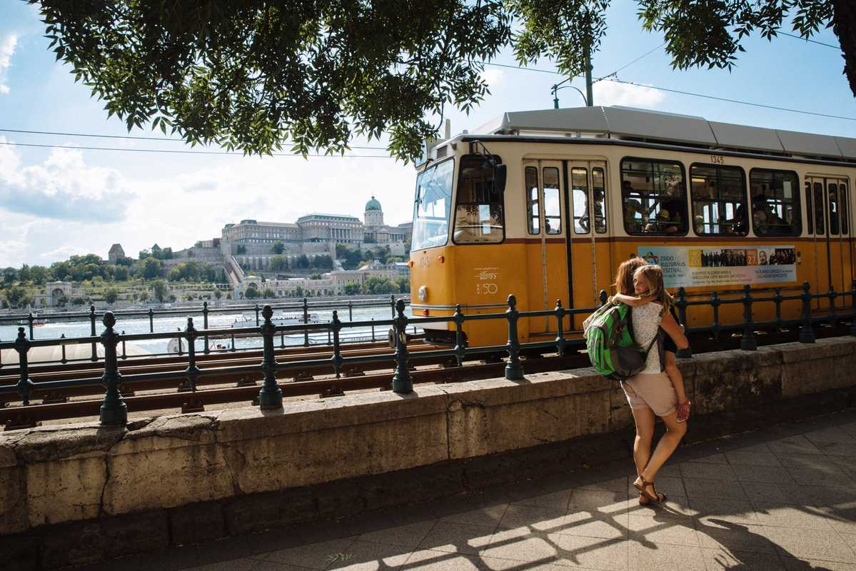 Possibly the world's most scenic tram route, Budapest