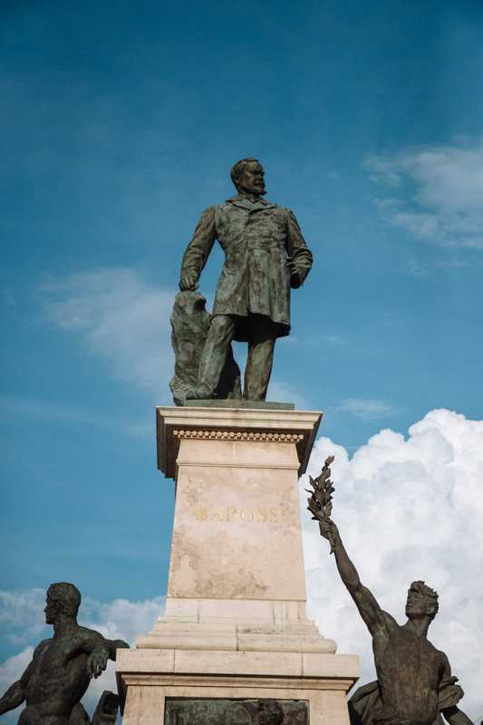 Statue of Gábor Baross, father of Hungary's railways