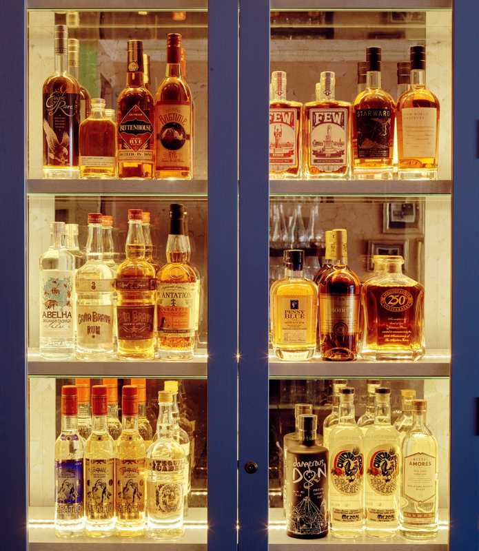 Liquor on display