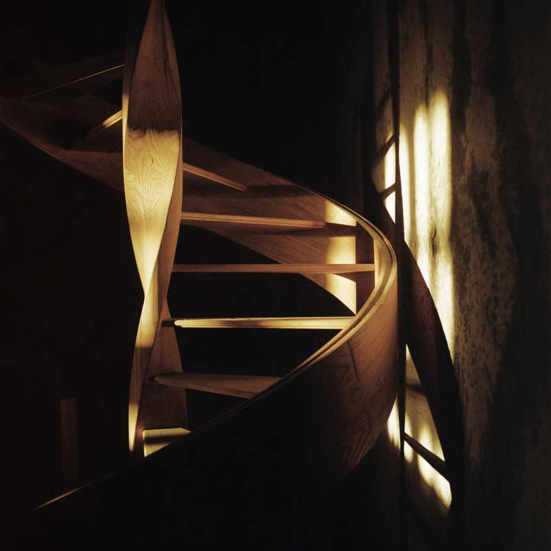 A staircase from a project on circular work