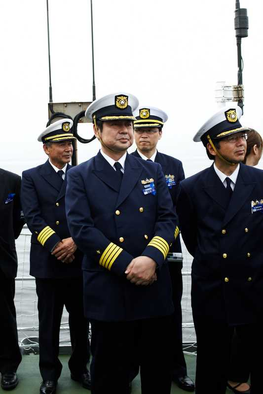 JCG officers on board Yashima